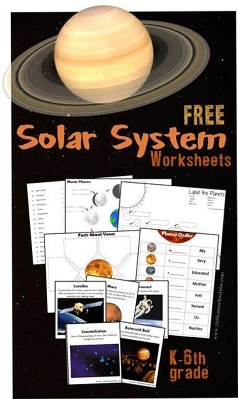 free solar system worksheets for kids kindergarten 1st