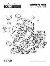 Dinotrux Coloring Ton Printable Dinosaur Tonton Netflix Birthday Colorear Sheets Dibujos Pdf Malvorlagen Dino Infantiles Imagenes Trux Sheet Ausmalbilder Sweeps4bloggers sketch template