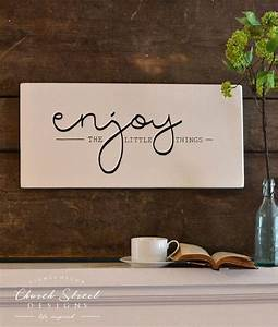 25 best ideas about painted wooden signs on pinterest With best brand of paint for kitchen cabinets with wall decor word art