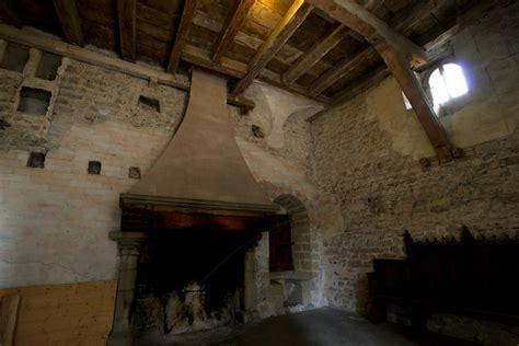 image detail  medieval fireplace castle chillon