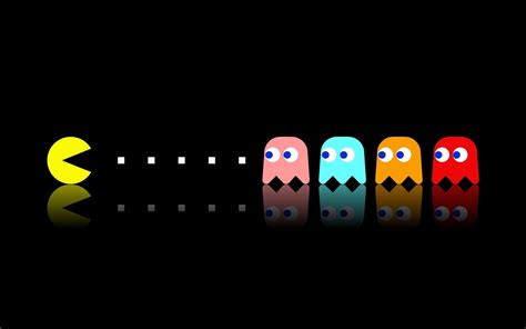 Animated Pacman Wallpaper - fondo negro wallpapers hd 10 pac and gaming