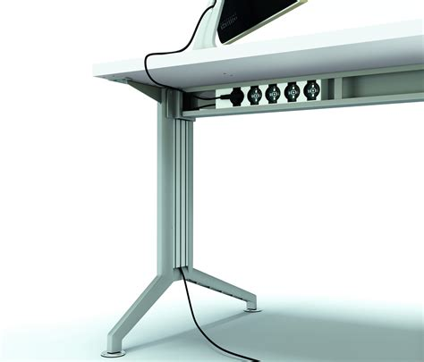 desk with cable management cable management cable management from quadrifoglio