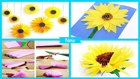 Easy Diy Tissue Paper Sunflower Craft For Android