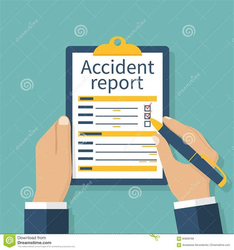 accident report stock illustrations  accident report
