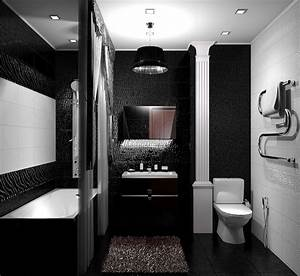 Salle De Bain Noire Et Blanche : 1001 mod les pharamineux de la salle de bain moderne ~ Melissatoandfro.com Idées de Décoration