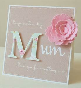 personalised felt flower mother's day card by thoughts of ...