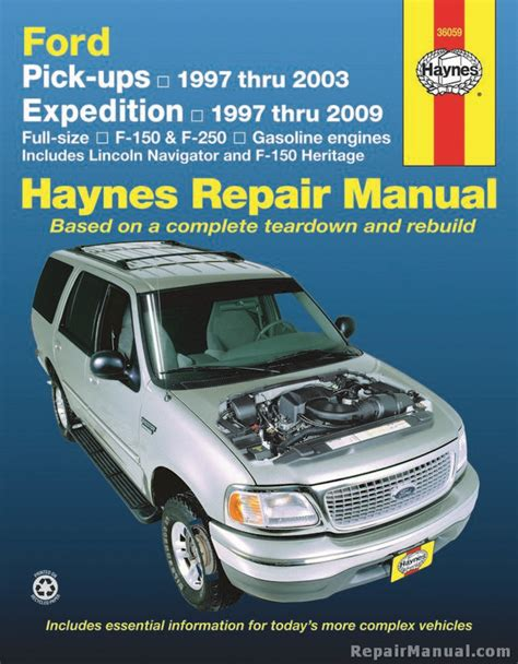 car repair manuals online pdf 2009 ford expedition el auto manual haynes ford pickup expedition lincoln navigator 1997 2009 repair manual