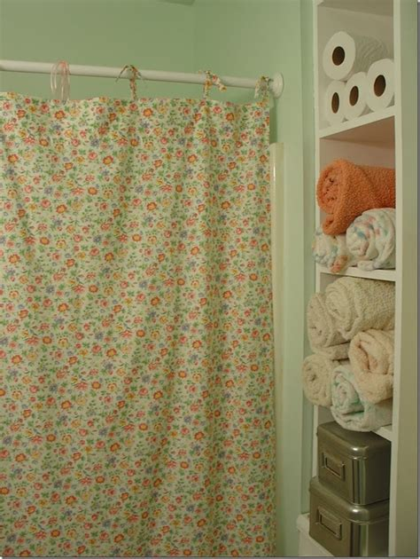 easy home made shower curtain from sheet home