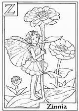 Coloring Zinnia Fairy sketch template