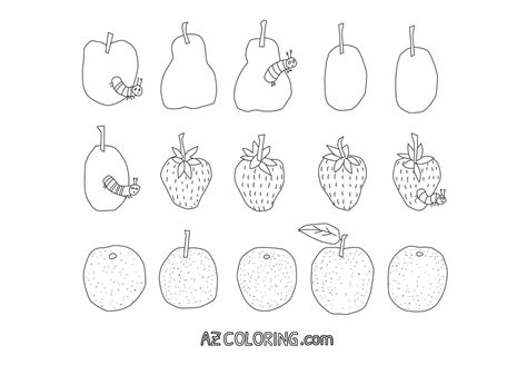 hungry caterpillar coloring page  hungry