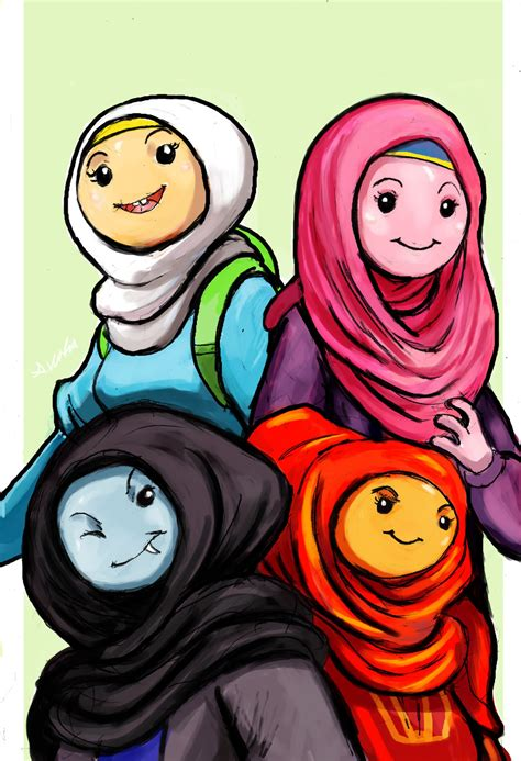 adventure time girls hijab style  thelivingshadow
