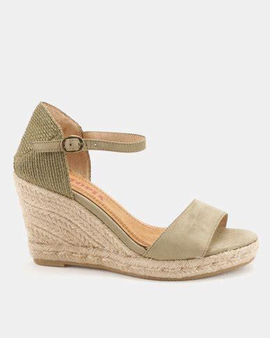 Sandal Whitley 2 Khaki utopia espadrille wedge sandals khaki zando