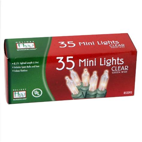 35 count clear christmas light set