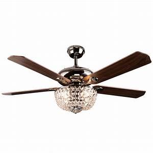 Crystal ceiling fan light rustic sf
