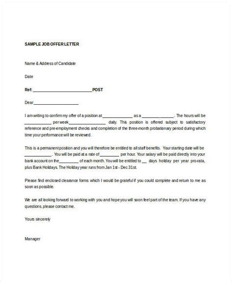 offer letter template doc offer letter templates in