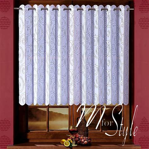 vertical net lace curtain pleated blind window panel white