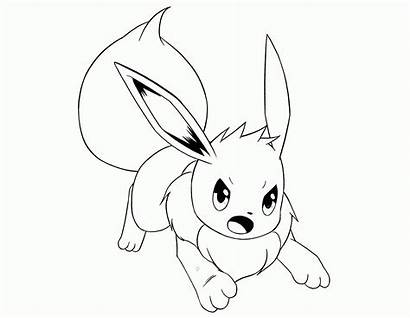 Pokemon Eevee Coloring Pages Evolutions