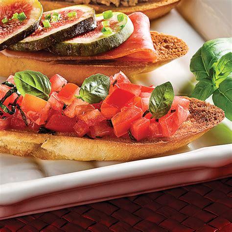 bruschettas aux tomates  basilic recettes cuisine