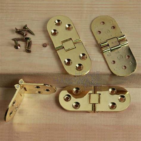 Flip Hinge Folding Table Flush Mount Brass Polished 4