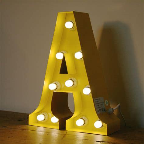 light up letter yellow a 15 quot light up letter the consortium vintage