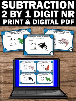 Finally, let's add the next set of digits, 2 and 4. 2 Digit Subtraction Without Regrouping Task Cards, 1st Grade Math Review Game