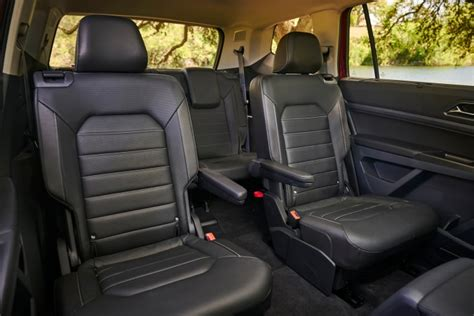 volkswagen atlas interior seating 2018 volkswagen atlas pricing for sale edmunds