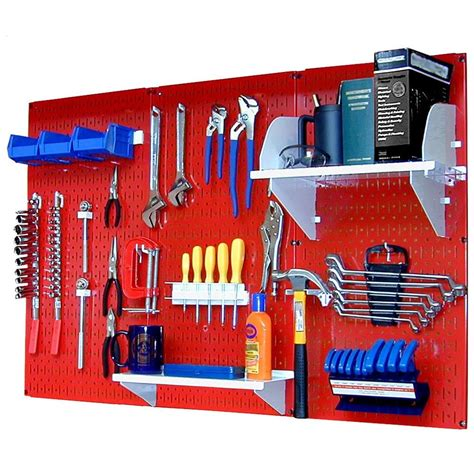 Side Cabinet Tool Box by Wall Control 32 In X 48 In Metal Pegboard Standard Tool
