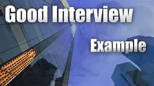 Job Interview    Good Example