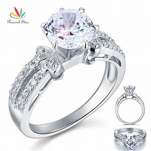 wholesale drop shipping free 2 carat created diamond solid With wholesale diamond wedding rings