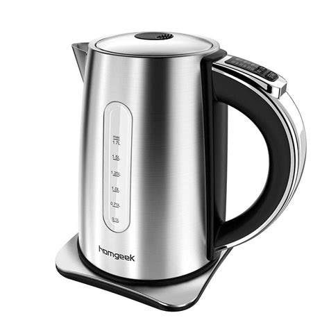 electric kettle stainless steel tea water kettles homgeek hqreview boil shut precise cordless temperature temp setting function protection dry warm