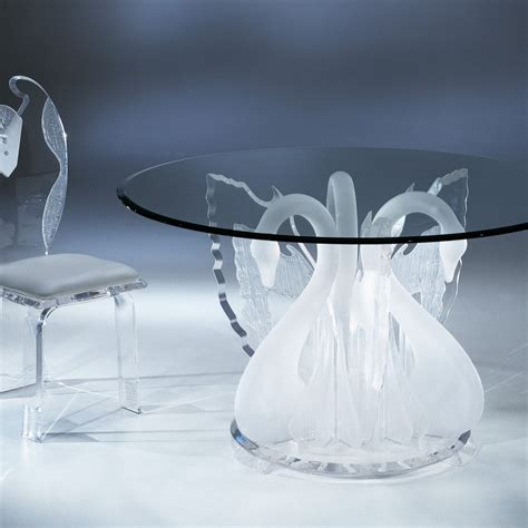 round plexiglass table top clear acrylic legend swan round dinette table with glass
