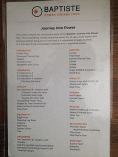 Baptiste Yoga Journey Into Power Sequence October 2016