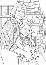 Coloring Prairie Laura Ingalls Inside Charles sketch template