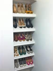 Slanted Shoe Shelves DIY
