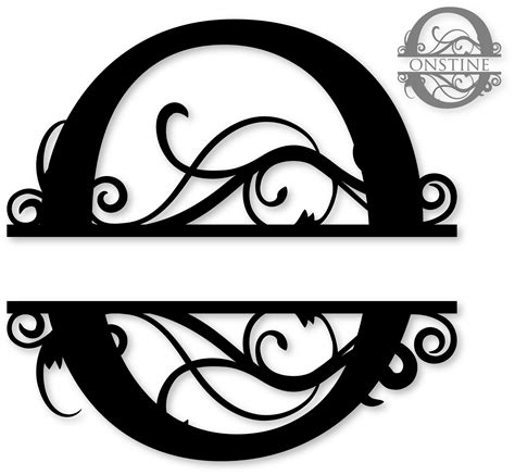 library  pumpkin monogram svg library stock black  white png files clipart art