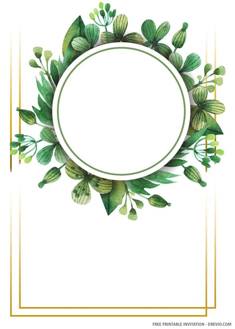 (FREE PRINTABLE) - Round Greenery Wedding Invitation ...