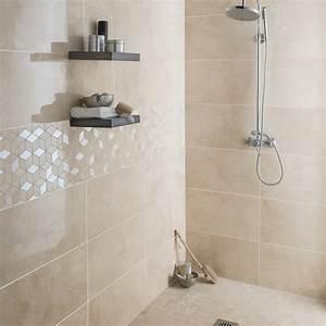 faience mur beige murano l305 x l56 cm leroy merlin With faience beige salle de bain