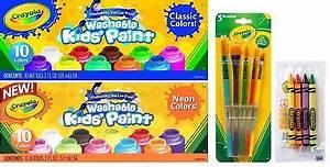 CRAYOLA Washable Kids Paint set of 10 Bottles 2 fl oz