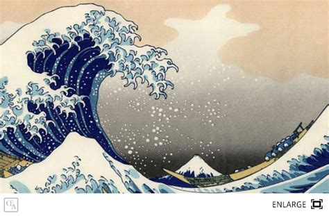 Japanisches Bild Welle by The Great Wave Kanagawa Hokusai
