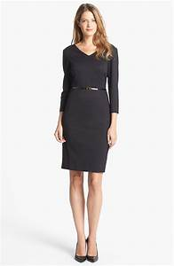 Dressing New York : jones new york scarlet ponte sheath dress in black lyst ~ Dallasstarsshop.com Idées de Décoration