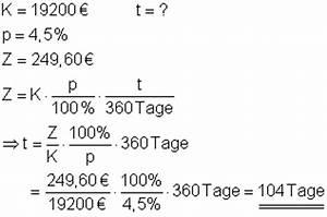Zins Berechnen Formel : zinsrechnung mathe brinkmann ~ Themetempest.com Abrechnung