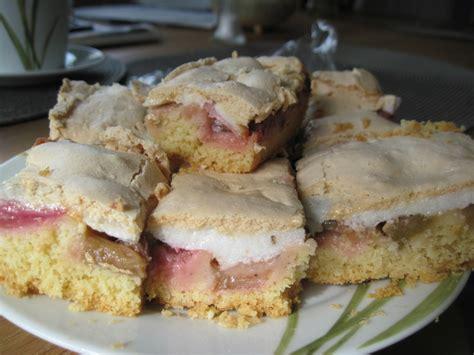 Ma  Jas Rhabarber  Baiser  Kuchen Vom Blech Von Maja