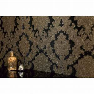 Arthouse Vintage Vicenza Damask Floral Glitter Textured ...