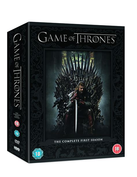 game  thrones season  box set  discs dvd