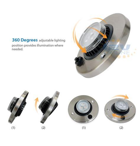 12v led directional eyeball cabinet reading light rv
