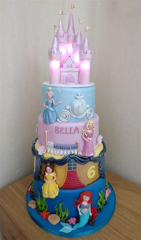 tier disney princesses birthday cake   illuminated