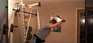 How to Strength train with overhead cable triceps ...