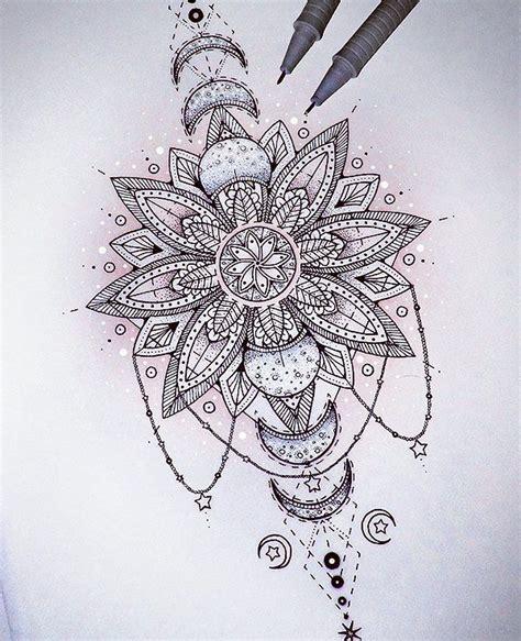 atsaphiriart  instagram mandala eclipse tattoo design
