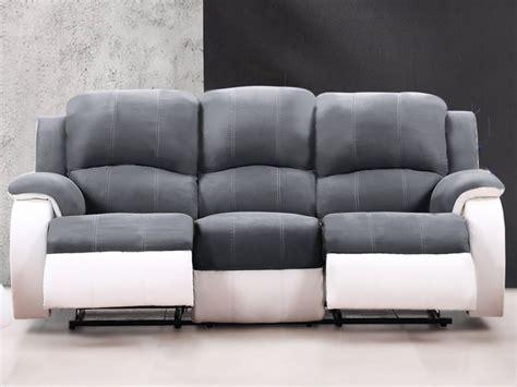 canap relax blanc canapé et fauteuil relax en microfibre 3 coloris bilston
