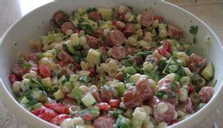 salade de p 226 tes et saucisses recettes du qu 233 bec